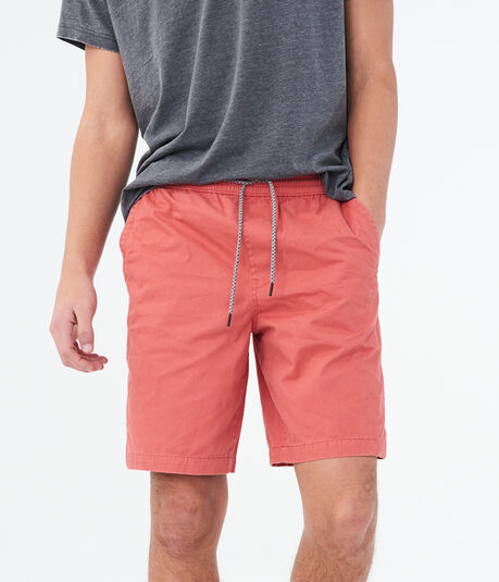 "Solid Twill 9"" Jogger Shorts"