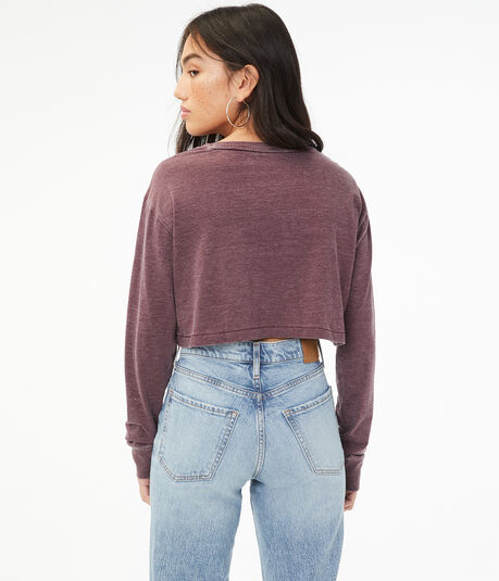 Burnout Cropped Crew Tee