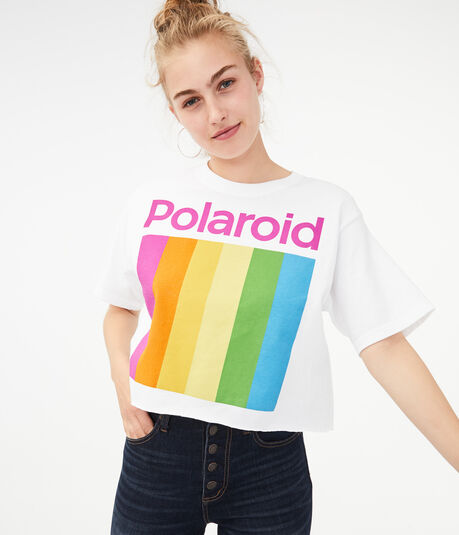 Polaroid Crop Graphic Tee