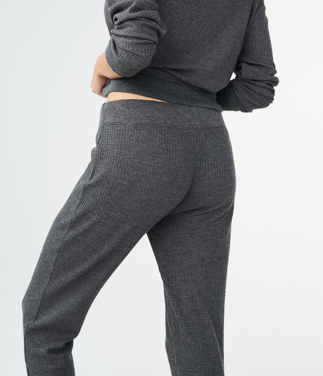 Solid Waffle-Knit Joggers