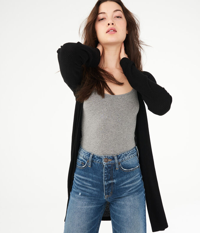 Long Sleeve Ribbed Cardigan*** by Aeropostale
