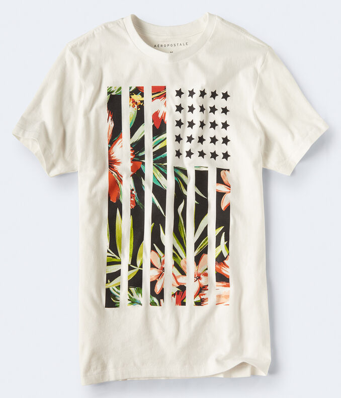 Floral Flag Graphic Tee