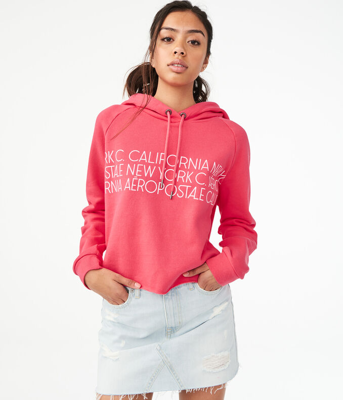 New York & California Pullover Hoodie