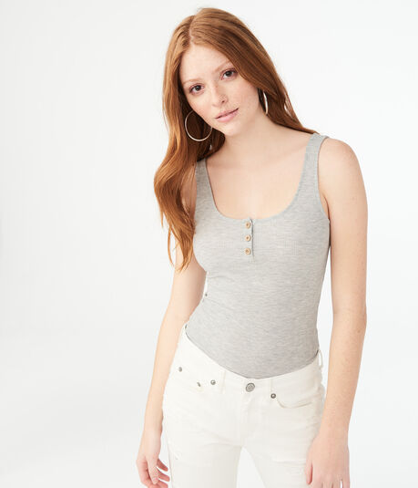 Henley Bodycon Tank***