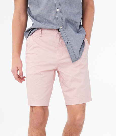 "Small Dot 9.5"" Flat-Front Shorts"