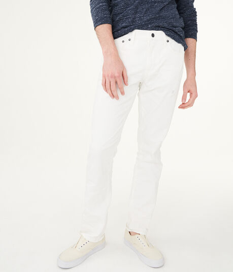 Slim Straight White Stretch Jean