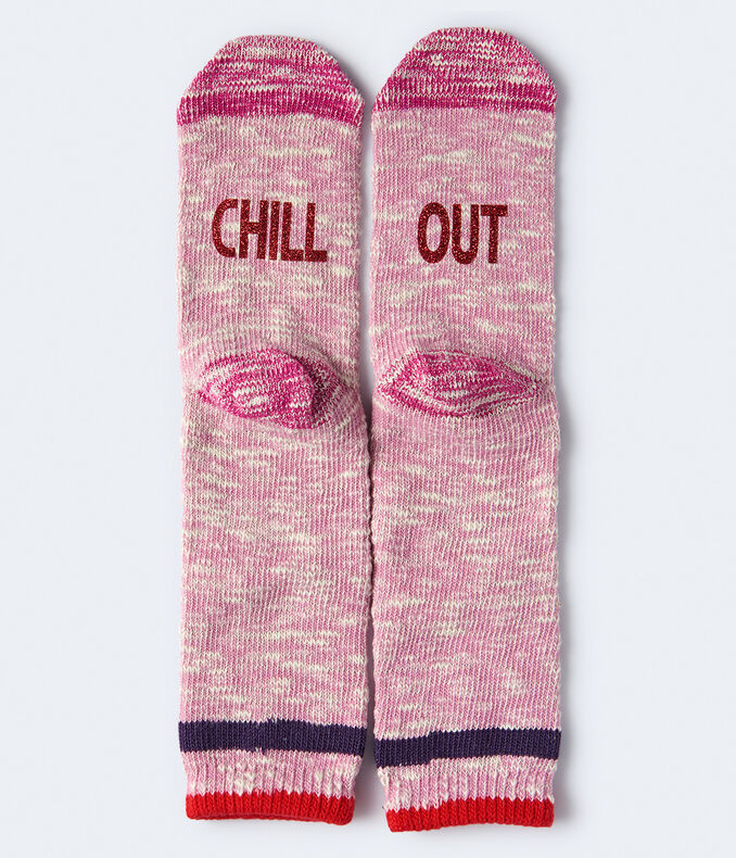 Chill Out Marled Crew Socks