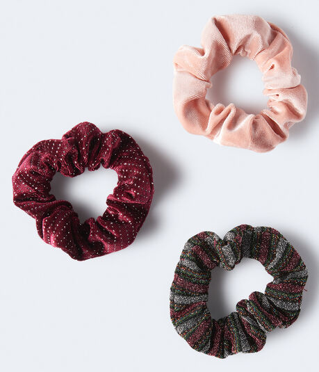 Velvet Scrunchie 3-Pack***