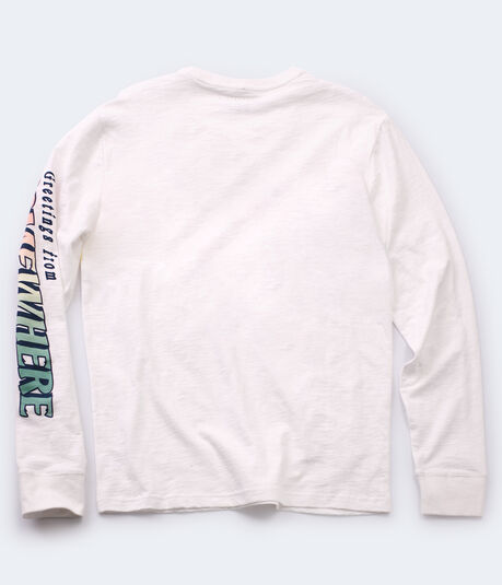 Long Sleeve Greetings From Somewhere Graphic Tee