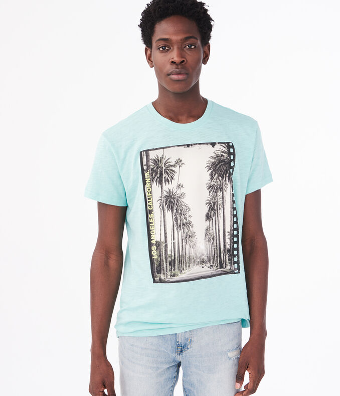 Los Angeles California Palm Tree Graphic Tee