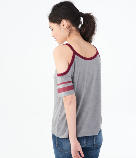 Football Cold-Shoulder Tee***