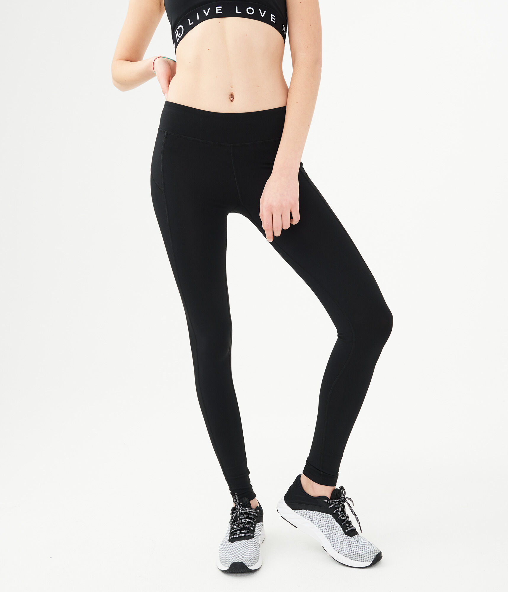 704d8447d93 LLD Best Booty Ever Solid Black Leggings - Women s Leggings ...