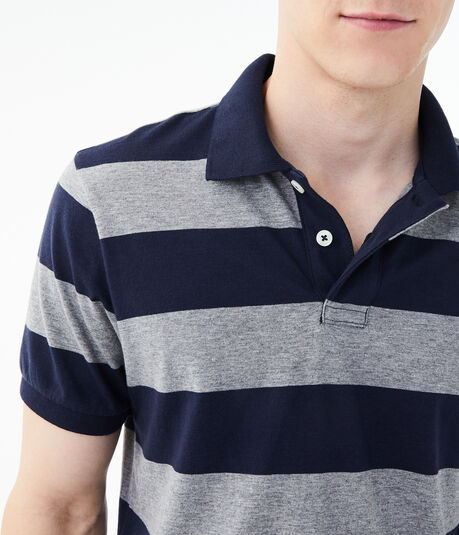 Rugby Stripe Jersey Polo
