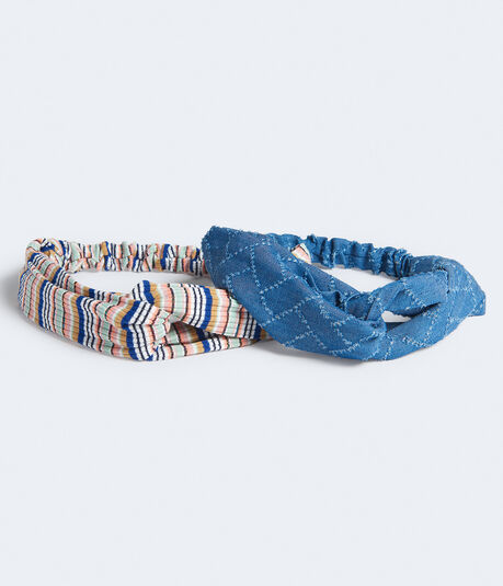 Stripe & Denim Headband 2-Pack