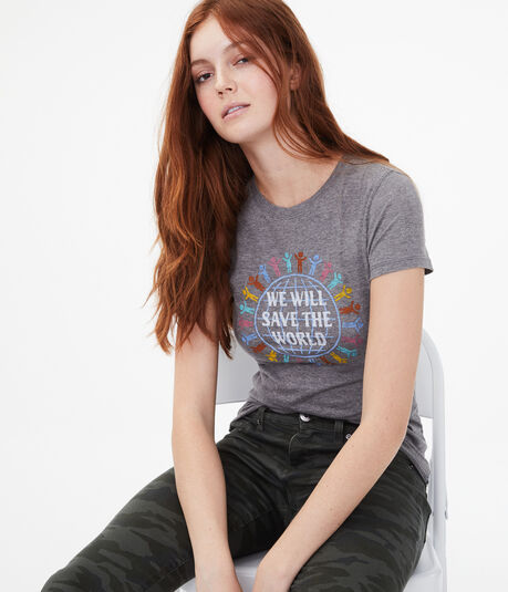 Free State We Will Save The World Graphic Tee
