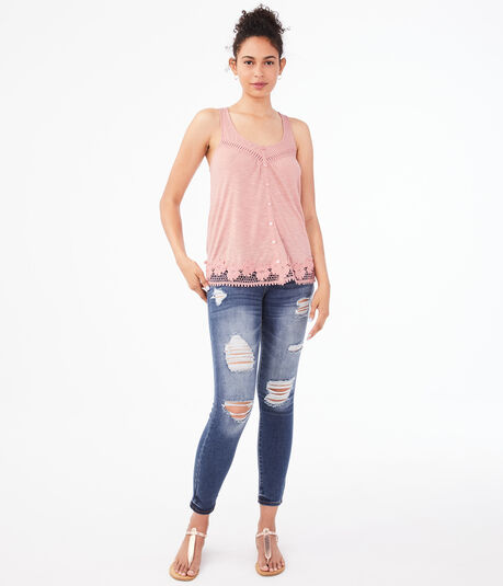 Seriously Soft Lace Peasant Tank