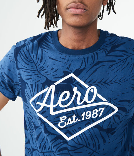 Aero Diamond Leaves Graphic Tee