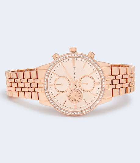 Metal Bling Chrono Analog Watch