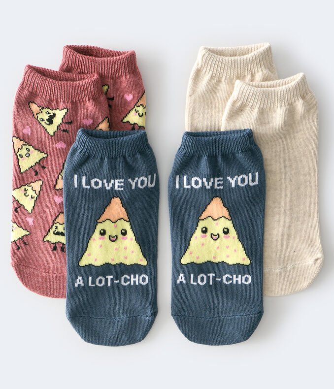 I Love You A lot-Cho Ankle Sock 3-Pack
