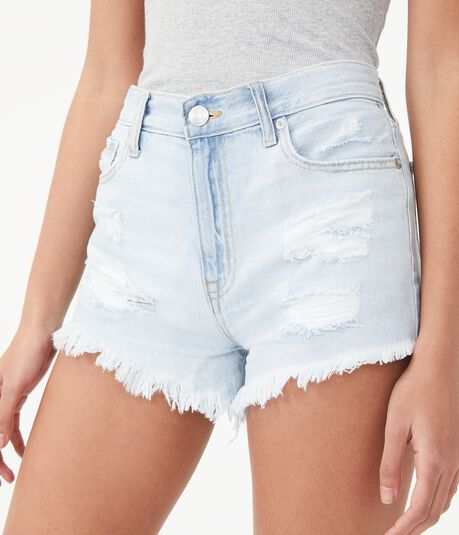 Real Denim High-Rise Shorty Shorts***