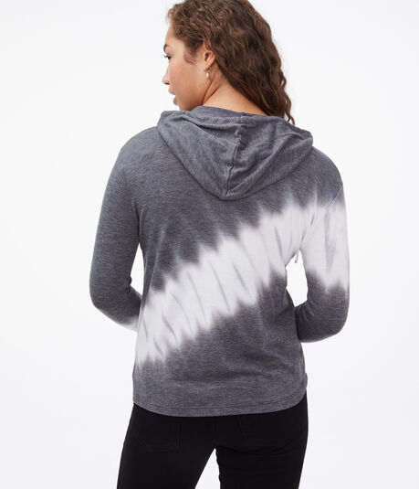 Long Sleeve Tie-Dye Hooded Tee