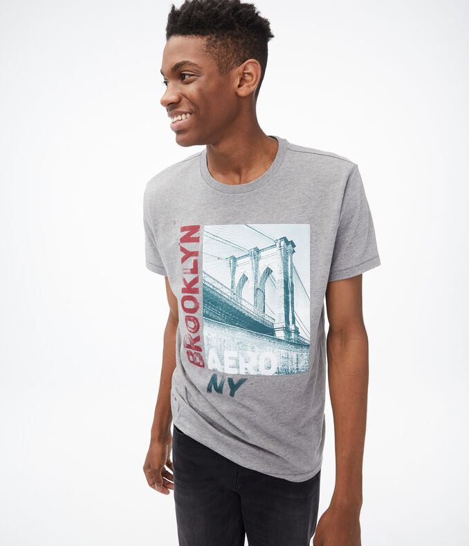 Aero NY Brooklyn Bridge Graphic Tee
