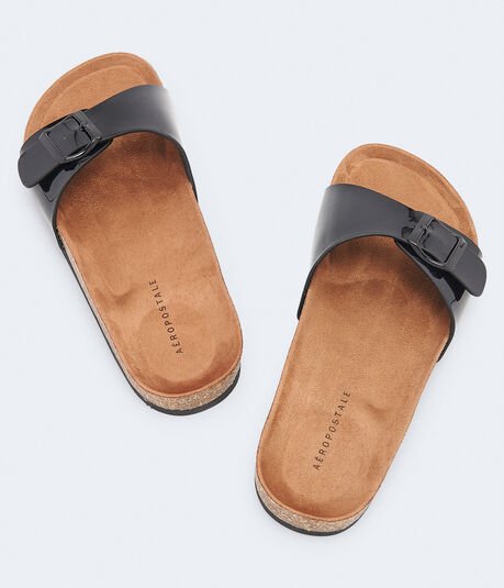 Buckle Cork Slide Sandal