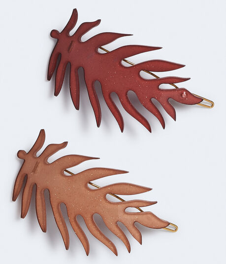Plastic Feather Barrette 2-Pack