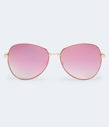 Tonal Mirrored Lens Butterfly Sunglasses