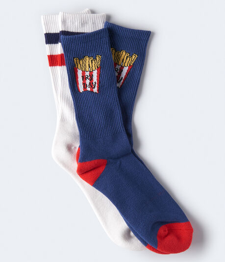 Fry Day Crew Sock 2-Pack