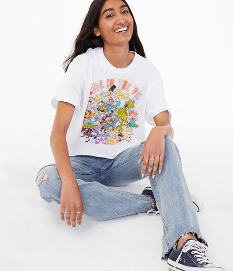 Made In The '90s Cropped Graphic Tee***