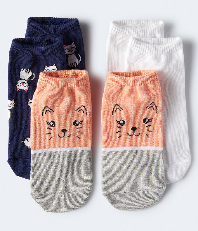 Smiling Cats Ankle Sock 3-Pack