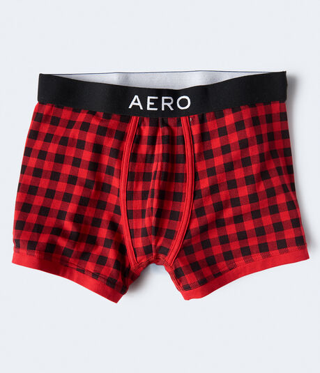 Buffalo Plaid Knit Trunks