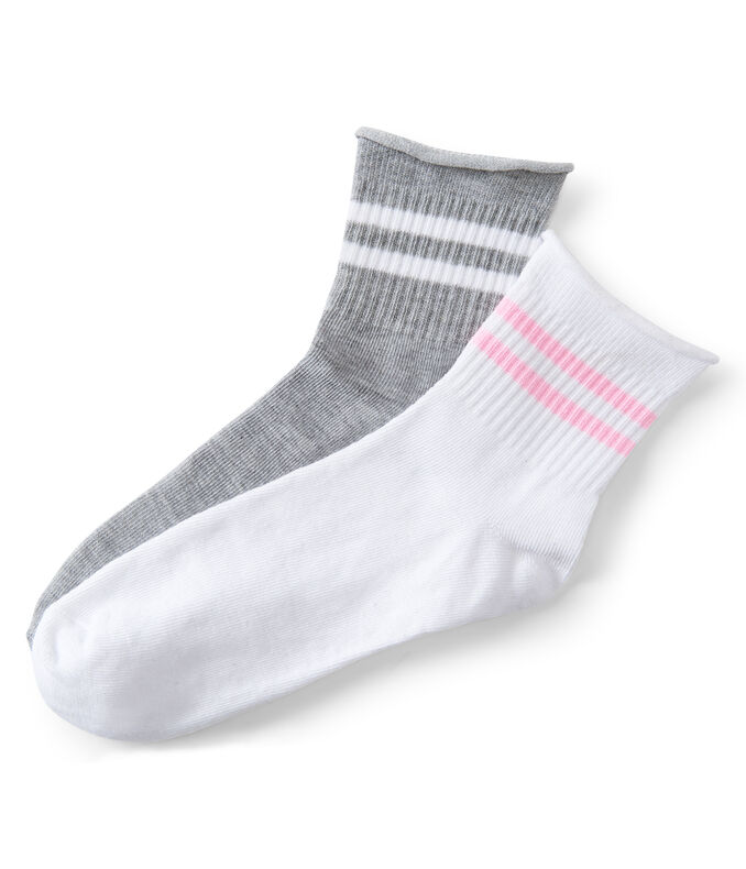 2-Pack Striped Crew Socks