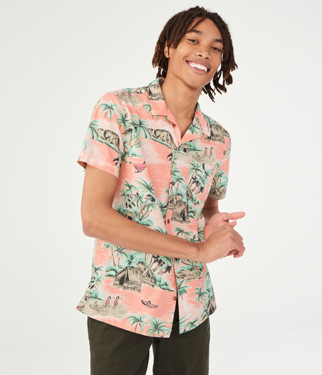 Island Resort Button-Down Shirt