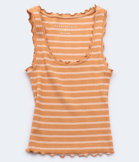 Ribbed Striped Bodycon Tank