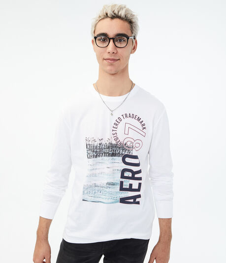 Long Sleeve Aero 87 West Coast Graphic Tee