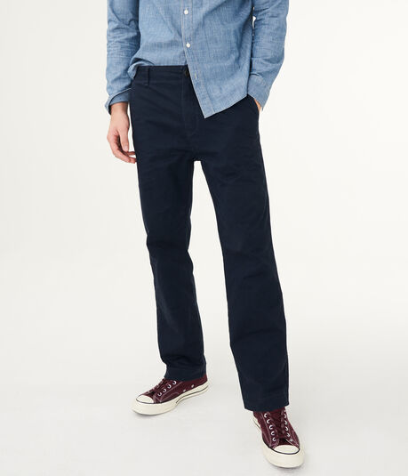 Solid Relaxed Twill Stretch Chinos***