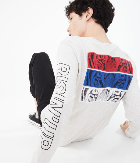 Long Sleeve Tiger Eyes Graphic Tee