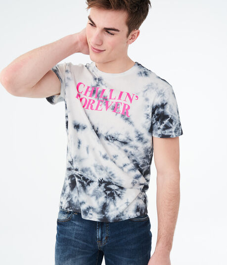 Chillin' Forever Tie-Dye Graphic Tee