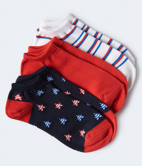 Stars & Stripes Ankle Sock 3-Pack***