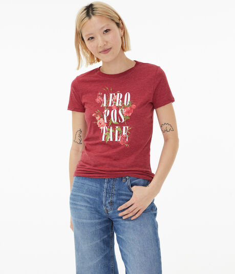 Stacked Aeropostale Floral Graphic Tee