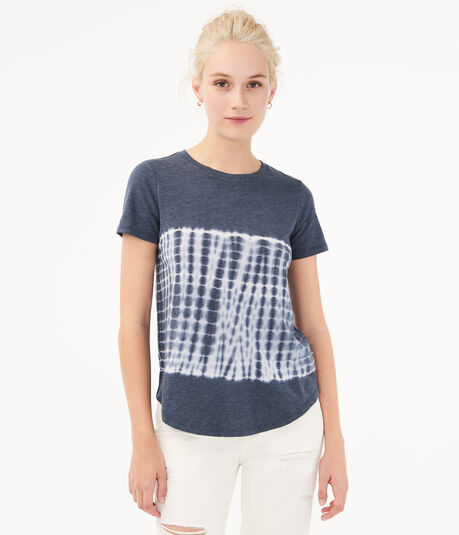 Seriously Soft Colorblocked Tie-Dye Crew Tee