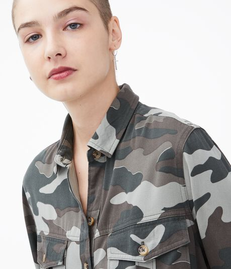 Camo Utility Button-Down Shirt