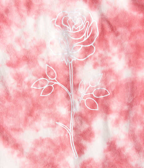Rose Tie-Dye Graphic Tee