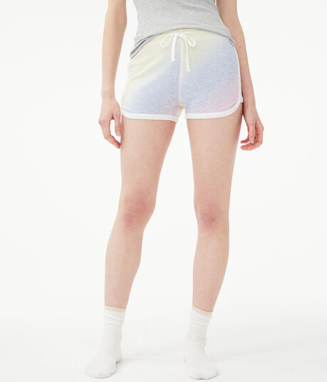 Tie-Dye Fuzzy Girlfriend Shorts
