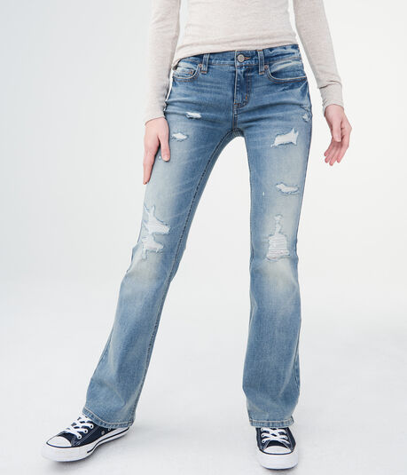 Flex Effects Low-Rise Flare Jean