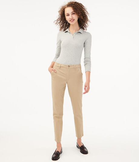 Mid-Rise Slim Pants