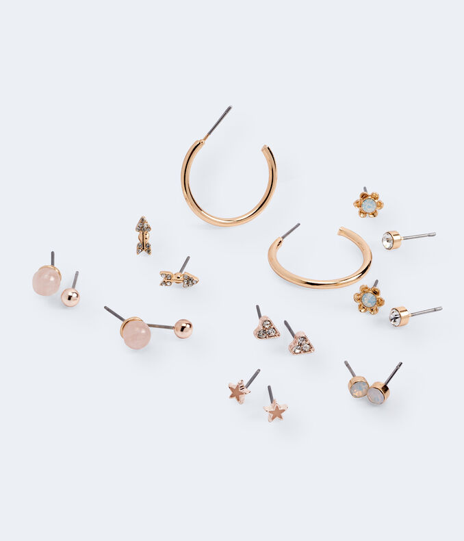 Star Stud & Hoop Earring 9-Pack