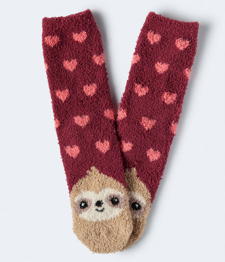 Sloth Fuzzy Crew Socks
